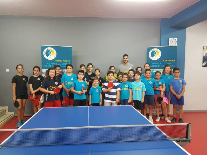 table tennis group photo - the participants